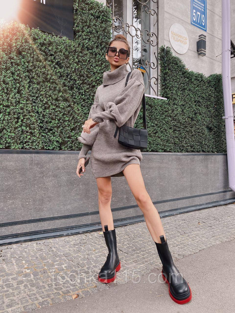 Найулюбленіше та зручне плаття, светр, 42-48 р, колір сірий меланж