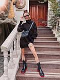 Найулюбленіше та зручне плаття, светр, 42-48 р, колір сірий меланж, фото 2