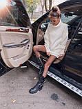 Найулюбленіше та зручне плаття, светр, 42-48 р, колір сірий меланж, фото 4