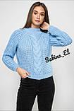 Шерстяной стильный женский свитер (крупная вязка), фото 8