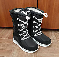 Детские зимние сапоги дутики сапожки унисекс для мальчиков для девочек (код 1012)- дитячі зимові сапожки чорні