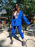 Трендовый костюм,Брюки бананы и объемная рубаха оверсайз, S/M/L, цвет черный, фото 4
