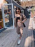 Трендовый костюм,Брюки бананы и объемная рубаха оверсайз, S/M/L, цвет черный, фото 5