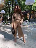 Идеальный базовый  костюм для осени, 42-46р, цвет горчичный, фото 3