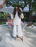 Идеальный базовый  костюм для осени, 42-46р, цвет бежевый, фото 3