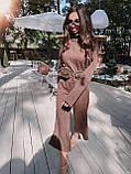 Идеальный базовый  костюм для осени, 42-46р, цвет бежевый, фото 4