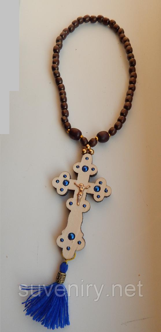 Четки деревянные православные с крестом