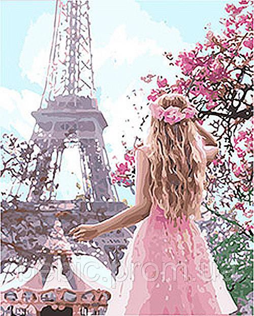 """Картина по номерам """"Влюблённая в Париж 2"""" 40*50 см"""