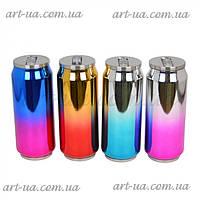 """Термос-банка для напитков """"Style"""" из нержавеющей стали, разные цвета, 18х6см, 500мл, термосы, емкость для"""