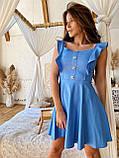 Легке кокетливе сукня з натурального льону. S/M/L (білий), фото 5