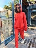 Трендовый стильный костюм, 42-46, 46-48 рр, цвет красный, фото 10