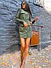 Платье замшевое короткое с карманами на кнопках, фото 2
