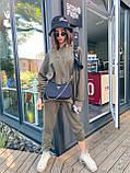 Трендовый стильный костюм, 42-46, 46-48 рр, цвет бежевый, фото 4