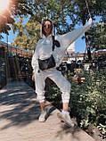Трендовый стильный костюм, 42-46, 46-48 рр, цвет бежевый, фото 5