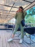 Трендовый стильный костюм, 42-46, 46-48 рр, цвет бежевый, фото 9