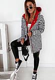 Стильная женская двухсторонняя куртка, принт, S/M/L/XL, цвет черный, фото 4