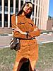 Платье замшевое мини с карманами на кнопках, фото 3
