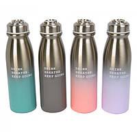 """Термос -бутылочка для напитков """"Drink"""" разные цвета, термосы, емкость для напитков"""