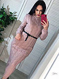 Идеальное вязанное Платье-гольф, 42-46 р, цвет серый, фото 3