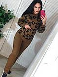 Вязаный женский костюм, теплый и приятный к телу, 42-46р, цвет темно-коричневый, фото 2