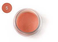 Цветная акриловая пудра 3D, для лепки, #005 Оранжевый, Velena, 5г