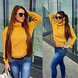 Женский вязаный свитер, теплый 42-46 рр, цвет красный, фото 2