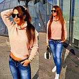 Женский вязаный свитер, теплый 42-46 рр, цвет красный, фото 4