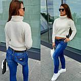 Женский вязаный свитер, теплый 42-46 рр, цвет красный, фото 5