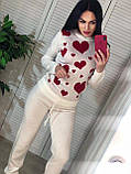 Вязаный женский костюм, теплый и приятный к телу, 42-46р, цвет серый, фото 3