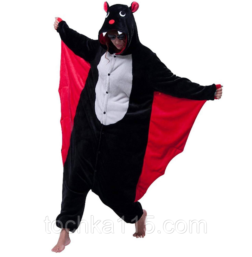 Пижама кигуруми Взрослые летучая мышь