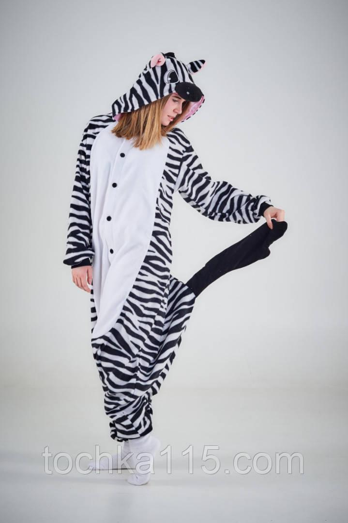 Пижама кигуруми Взрослые зебра
