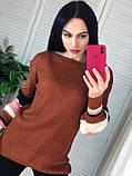 Теплый мягкий женский свитер 42-46 рр, цвет беж, фото 3