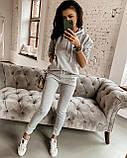 Женский костюм, модный, удобный, S/M/L/XL, цвет т-серый, фото 3