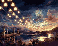 Артина по номерам Babylon VP376 Красота ночного феерверка 40 х 50 см, фото 1