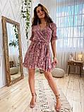 Легкое оригинальное платье из шифона S/M/L белый, фото 2