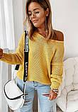 Женский базовый свитер идеально подойдёт под любые брюки и юбки, S/M/L цвет розовый, фото 3