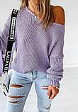 Женский базовый свитер идеально подойдёт под любые брюки и юбки, S/M/L цвет розовый, фото 4