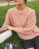 Женский базовый свитер на осень, 42-46р цвет бордо, фото 5