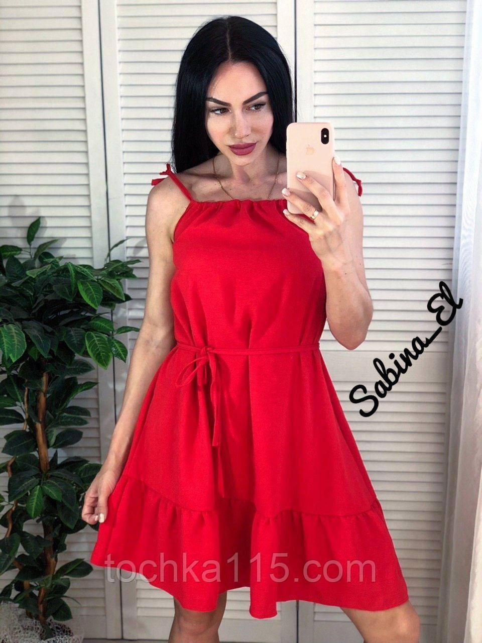 Стильное красное платье, очень легкое 42-44, 46-48 рр