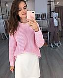 Женский базовый свитер на осень, 42-46р цвет пудра, фото 3