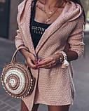 Женский вязанный кардиган идеальный вариант на прохладные вечера  42-46р, серый, фото 2