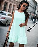 Стильное сиреневое платье, летнее, 42-44, 46-48 рр, фото 2