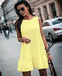 Стильное сиреневое платье, летнее, 42-44, 46-48 рр, фото 3
