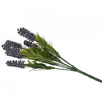 Букет искусственных цветов для декора Лаванда пластик, фиолетовый, 34х11см, искусственные цветы, декоративные