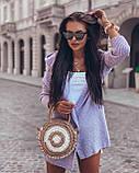 Женский вязанный кардиган идеальный вариант на прохладные вечера  42-46р, голубой, фото 3