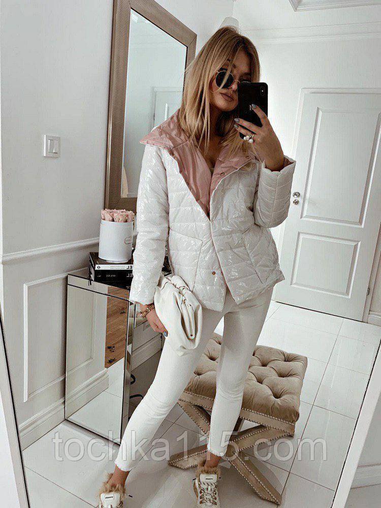 Легкая, невесомая стильная куртка, S/M/L/XL, цвет белый