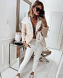 Легкая, невесомая стильная куртка, S/M/L/XL, цвет белый, фото 2