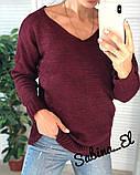 Стильный женский свитер на осень, 42-46р,  цвет лиловый, фото 4