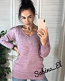 Стильний жіночий светр на осінь, 42-46р, колір пудра, фото 2