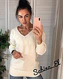 Стильний жіночий светр на осінь, 42-46р, колір пудра, фото 3